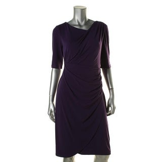 Connected Apparel Womens Gathered Tulip Wear to Work Dress