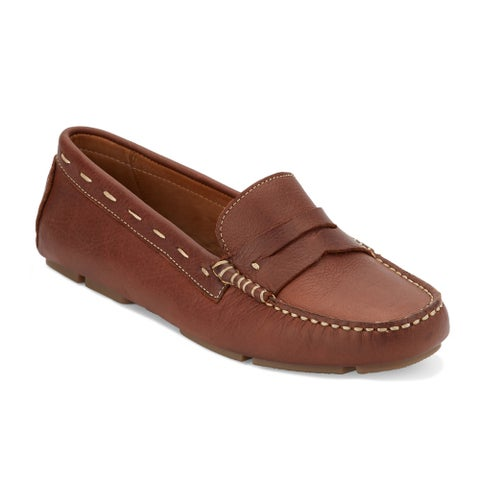 G.H. Bass & Co. Womens Patricia Leather Driving Loafer Shoe