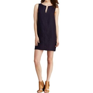 Three Dots Womens Casual Dress Linen Split Neck