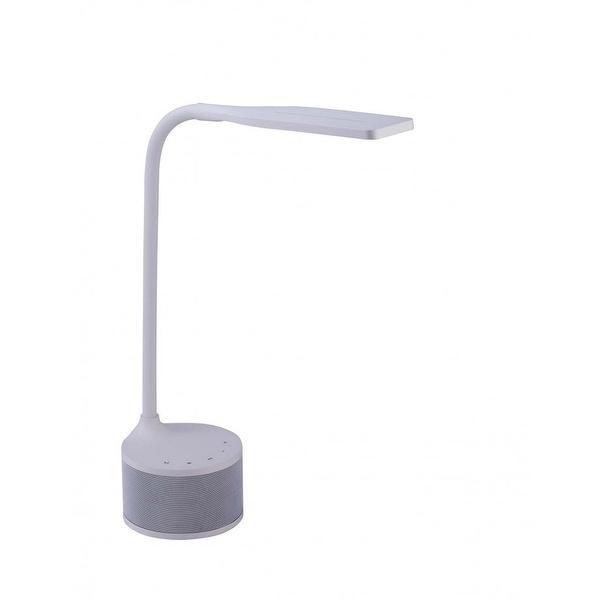 Bostitch LED Bluetooth Speaker Lamp with USB, White