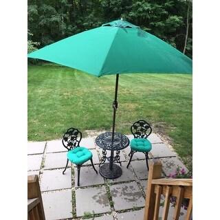 Tropishade 9 ft. Aluminum Bronze Patio Umbrella with Green Cover