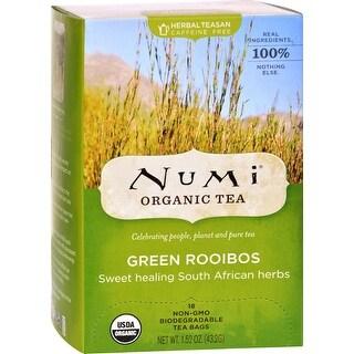 Numi Green Rooibos Sweet Healing South African Herbs - 18 Tea Bags - Case of 6