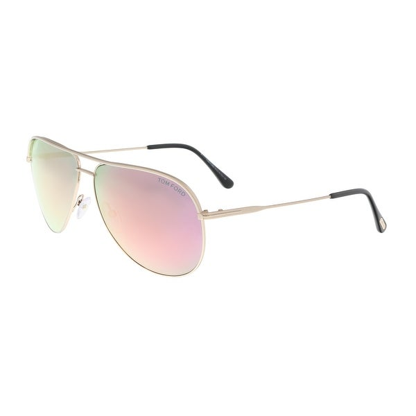9c50669798d8 Shop Tom Ford FT0466 29Z ERIN Gold Oval Sunglasses - 61-12-140 ...