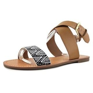 Indigo Rd. Devin Women Open Toe Synthetic Tan Gladiator Sandal