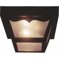 Volume Lighting V9762 2 Light Flush Mount Outdoor Ceiling Fixture with Clear Tex