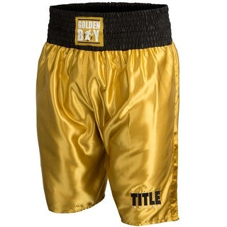 Title Boxing Golden Boy Pro Style Lightweight Boxing Trunks - Gold/Black