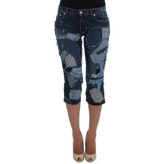 Dolce & Gabbana Stretch Blue Patchwork Jeans Shorts