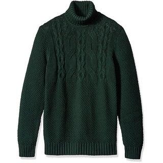 Nautica NEW Kelp Sea Green Mens Size Large L Turtleneck Sweater