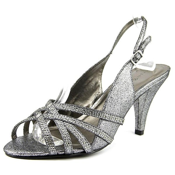 Karen Scott Sheerah Open Toe Canvas Slingback Heel
