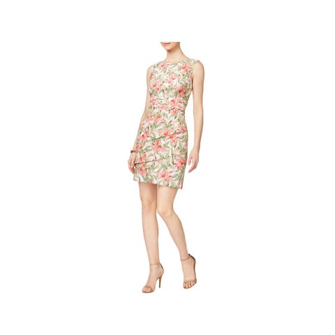 Connected Apparel Womens Cocktail Dress Sleeveless A-Line