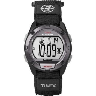 Expedition Full Pusher CAT Digital Watch - Grey Dial-Black Fabric