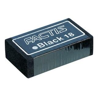 Factis Magic Latex-Free Eraser, 2-1/2 X 1-1/4 in, Black, Pack of 18