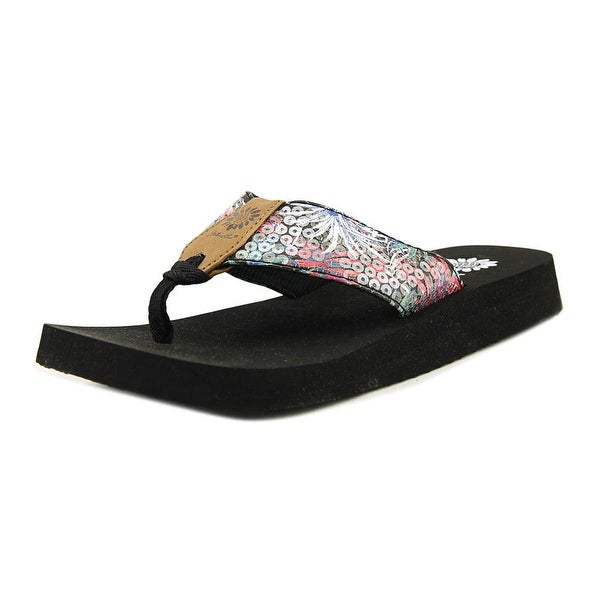 Yellow Box Sobe Women Open Toe Canvas Multi Color Flip Flop Sandal