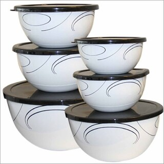 Reston Lloyd 44237 Simple Lines - 12 piece Bowl Set