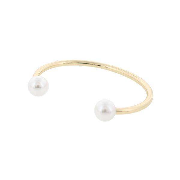 Shop Bcbgeneration Womens Cuff Bracelet Faux Pearl Bangle Free
