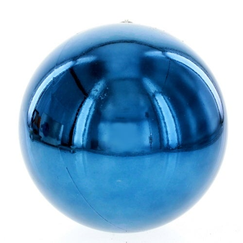 140mm Navy Shatterproof Ball Ornament