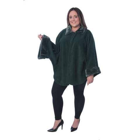Jackpot Cozy Cape Coat With The Hoodie Free Size