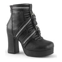 Demonia Women's Gothika 50 Ankle Boot Black Vegan Leather