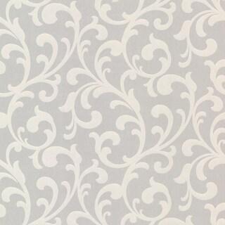 Brewster 2533-20205 Catasse Silver Scroll Wallpaper