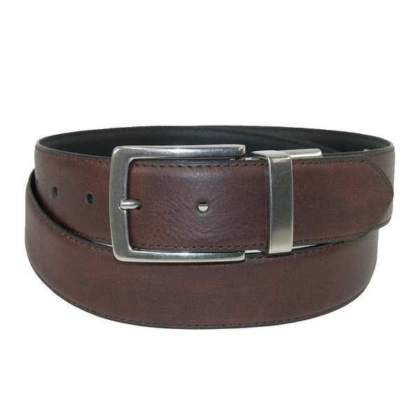 Levis Men's Leather Reversible Belt with Feathered Edge