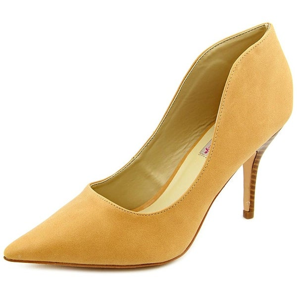 Dolce by Mojo Moxy Tammy Women Pointed Toe Synthetic Tan Heels