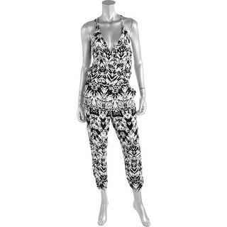 Parker Womens Silk Printed Jumpsuit - S