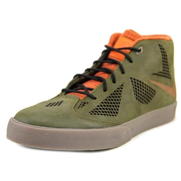 Nike Lebron X NSW LifeStyle Round Toe Leather Sneakers