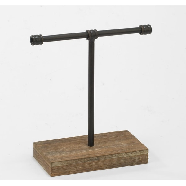 """11.5"""" Small Industrial Metal T-Bar Tabletop Jewelry Stand - N/A"""