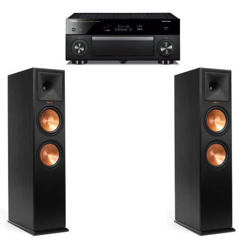 Klipsch RP-280F Ebony Pair with Yamaha RX-A1080 Receiver