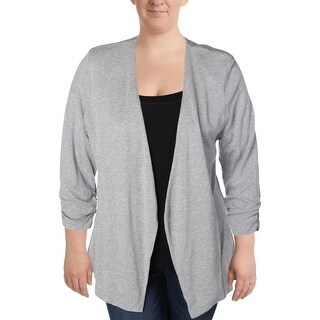 Tart Collections Womens Plus Knit Blazer Knit Open Front