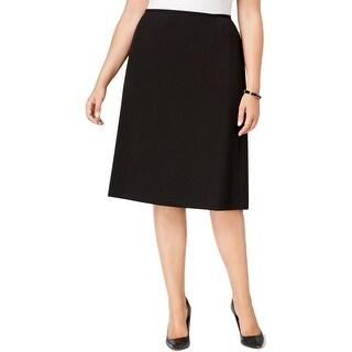 Tahari ASL Womens Plus Pencil Skirt Crepe Slit