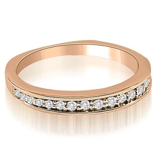 0.25 cttw. 14K Rose Gold Round Cut Diamond Wedding Ring