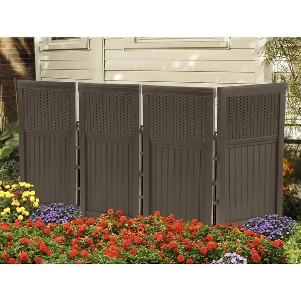 Shop Suncast FSW4423 Resin Wicker Outdoor Screen Enclosure ...