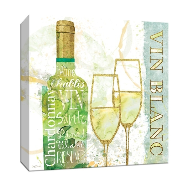 """PTM Images 9-147326 PTM Canvas Collection 12"""" x 12"""" - """"Vin Blanc"""" Giclee Wine Art Print on Canvas"""