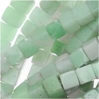 Pale Aqua Green Amazonite 4x4mm Cube Beads / 15.5 Inch Strand