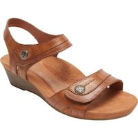 Rockport Women's Hollywood 2 Piece Sandal Tan Leather