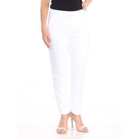 TRINA TURK Womens White Skinny Wear To Work Pants Size: 12
