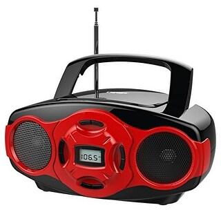 Naxa NAXNPB264RER NAXA Electronics Portable MP3/CD Boombox and USB Player