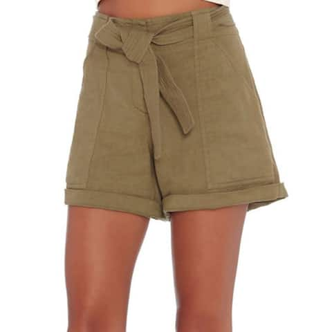 A.L.C. Gregory Green Linen Shorts 8