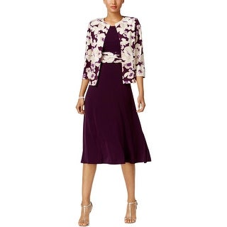 Jessica Howard Womens Petites Dress With Jacket 2PC Floral Print