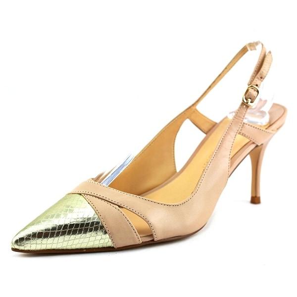 Ivanka Trump Billa Women Pointed Toe Leather Nude Slingback Heel