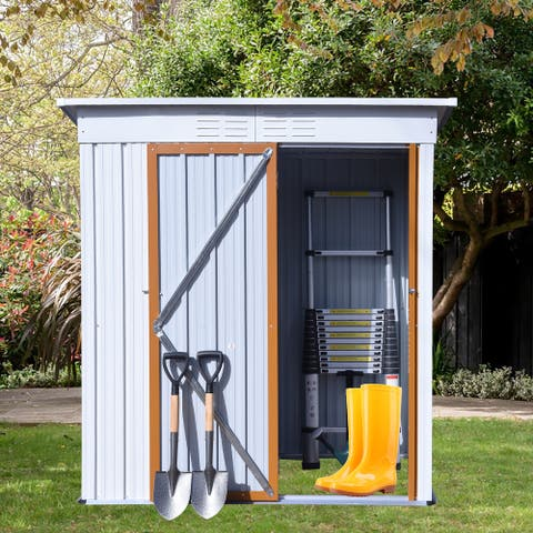 TiramisuBest Metal Shed Made of color steel plate and aluminum alloy