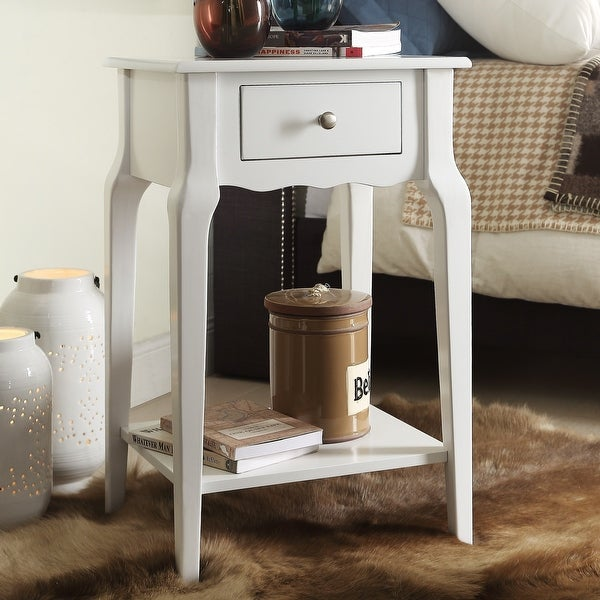 Daniella 1-Drawer Wood Storage Accent End Table by iNSPIRE Q Bold. Opens flyout.