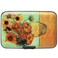 Women's Fine Art Identity Protection RFID Wallet - Sunflowers - Medium