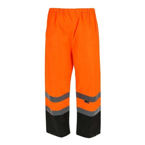 Tuff Grip Men's Fluorescent Waterproof Pants with Reflective Strips