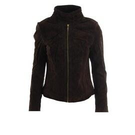 Rachel Rachel Roy Womens Suede Fringe Jacket