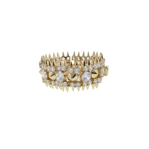 Noir Womens Statement Bracelet Gold-Plated Cubic Zirconia - Gold