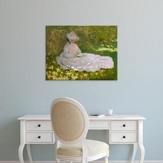 Easy Art Prints Claude Monet's 'Springtime' Premium Canvas Art
