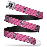 Ford Mustang Emblem Ford Mustang W Bars W Logo Pink Seatbelt Belt Fashion Seatbelt Belt
