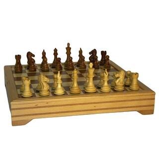 Sheesham Pro Chess Set Beechwood Chest - brown